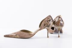 Cuero de zapatos nuevo Foto de archivo libre de regalías