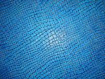 Cuero del azul de la textura Foto de archivo libre de regalías