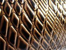 Cuero del lujo de la serpiente de Brown Imagenes de archivo