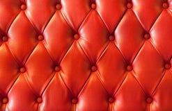cuero del rojo de la felpa Fotografía de archivo