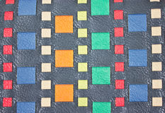 Cuero falso tejido colorido. Fotos de archivo