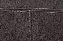 Cuero marrón de la textura Fotografía de archivo