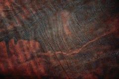 cuero marrón usado como fondo Imagenes de archivo