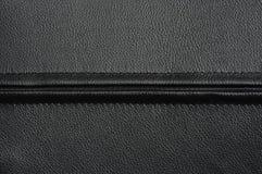 Cuero negro con la cremallera Imagen de archivo libre de regalías
