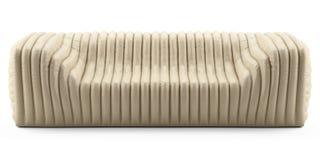 Cuero poner crema del sofá de la onda Fotografía de archivo libre de regalías