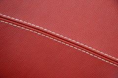 Cuero rojo Foto de archivo libre de regalías