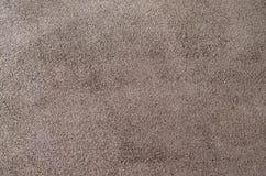 Cuero suave de la gamuza marrón como fondo de la textura Ciérrese encima del cuero Fotografía de archivo libre de regalías