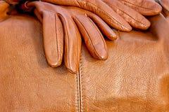 Cuero y bolso anaranjados Foto de archivo