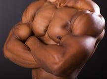 Cuerpo africano muscular del hombre Fotografía de archivo libre de regalías