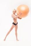 Cuerpo atlético de una mujer perfecta Foto de archivo