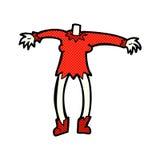 cuerpo cómico del vampiro de la historieta (las historietas cómicas de la mezcla y del partido o añaden Fotografía de archivo libre de regalías