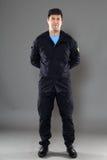 cuerpo completo del guardia de seguridad Fotografía de archivo libre de regalías