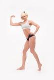 Cuerpo completo tirado de formas atléticas femeninas Imágenes de archivo libres de regalías