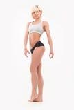 Cuerpo completo tirado de formas atléticas femeninas Imagen de archivo