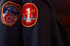 Cuerpo de bomberos de las insignias de Nueva York Imágenes de archivo libres de regalías