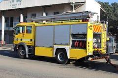 Cuerpo de bomberos que asiste al fuego en el señorío de Cato, Durban Imágenes de archivo libres de regalías