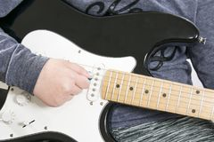 Cuerpo de la guitarra eléctrica Fotografía de archivo libre de regalías