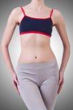 Cuerpo de la mujer en la dieta Fotos de archivo