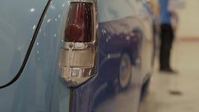 Cuerpo del coche retro azul