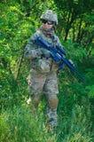 Cuerpo del Marines de los militares de la muchacha Fotografía de archivo libre de regalías