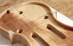 Cuerpo del violín Imagen de archivo