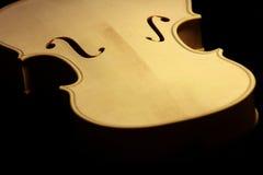 Cuerpo del violín Imágenes de archivo libres de regalías