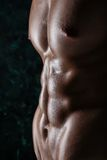 Cuerpo desnudo del individuo muscular joven atractivo Fotos de archivo libres de regalías