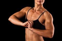 Cuerpo femenino muscular Foto de archivo libre de regalías