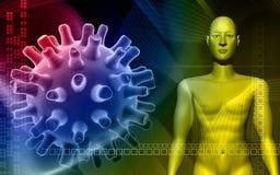 cuerpo humano en fondo del color Fotografía de archivo libre de regalías