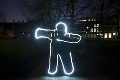 Cuerpo humano en luz Fotos de archivo libres de regalías