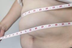 Cuerpo humano y parte del cuerpo gorda de la barriga o vientre y o gordo Imágenes de archivo libres de regalías