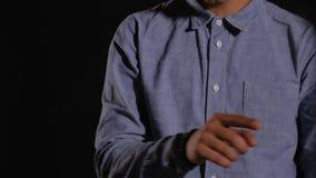 Cuerpo masculino en la plantilla para HUD almacen de metraje de vídeo