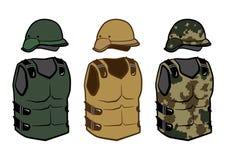 Cuerpo militar del camuflaje de los chalecos de la protección de la ropa Fotos de archivo libres de regalías