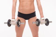 Cuerpo muscular de una chica joven Imagenes de archivo