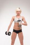 Cuerpo muscular de una chica joven Imagen de archivo