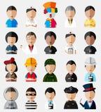 Cuerpo superior del colle simulado del icono de los personajes de dibujos animados lindos y divertidos Foto de archivo libre de regalías