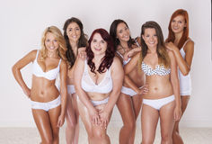 Cuerpos perfectos en cada tamaño Imagen de archivo libre de regalías