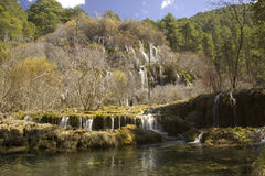 Cuervo Cascade, Cuenca, Spain Royalty Free Stock Photography