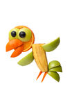 Cuervo divertido hecho de frutas Imagenes de archivo