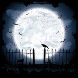 Cuervo en cementerio Fotos de archivo