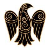Cuervo en estilo céltico, escandinavo ilustración del vector