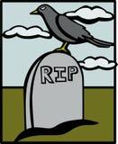 Cuervo en un cementerio Imagenes de archivo