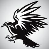 Cuervo Logo Black y vector blanco Fotos de archivo