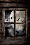 Cuervos de noche de Halloween Imagen de archivo libre de regalías