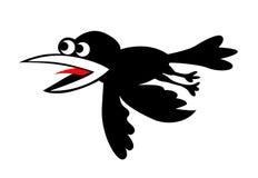 Cuervos del vuelo de la silueta del vector Imágenes de archivo libres de regalías
