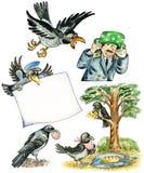 Cuervos divertidos libre illustration