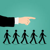 Cues walk forward. Royalty Free Stock Photos