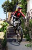 Cuesta abajo en Valparaiso chile Foto de archivo