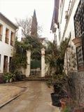 Cuesta de Chapiz-Street of the AlBAYZIN-Granada-Spain Stock Images