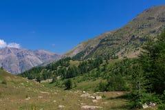 Cuesta de la Cayolle - DES Grandes Alpes de la ruta Foto de archivo libre de regalías